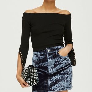 Topshop Bardot Off-the-Shoulder Top